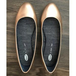 Dr. Scholl's Rose Gold Memory Foam Connect Flats